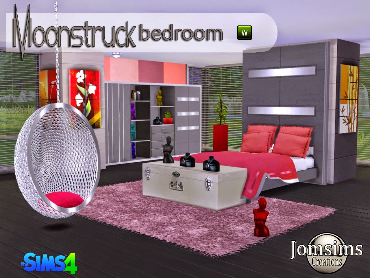 My sims 4 blog moonstruck bedroom set by jomsims for 4 bedroom