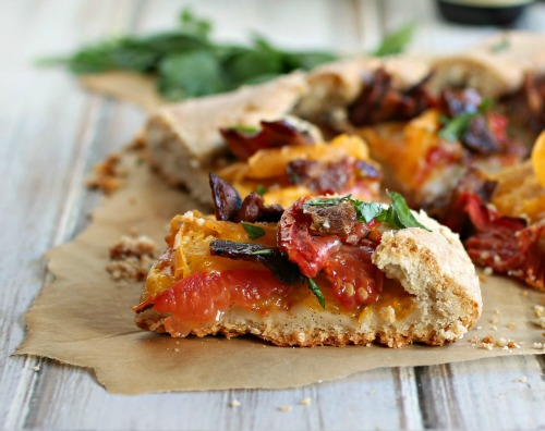Maple, Bacon and Tomato Tart