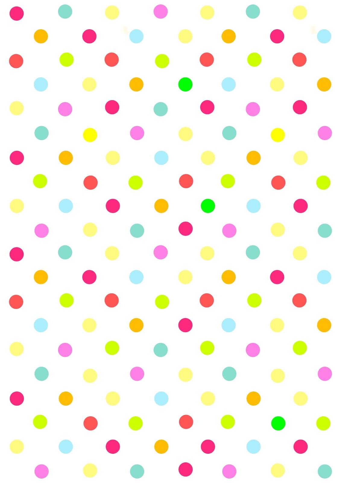 multi coloured polka dot wallpaper