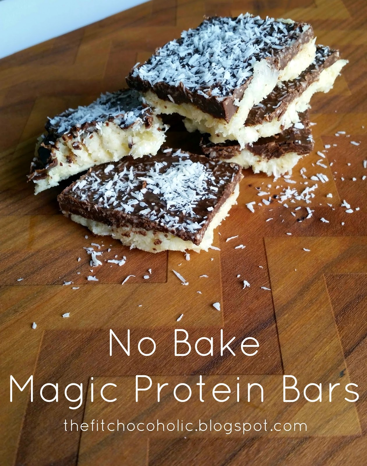 The Fit Chocoholic: No Bake Magic Protein Bars