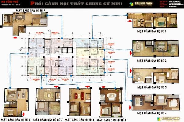 Mặt bằng thiết kế điển hình chung cư mini Trung Văn giá rẻ