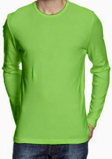 kaos-polos-oneck-lengan-panjang-hijau