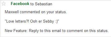 mail status facebook
