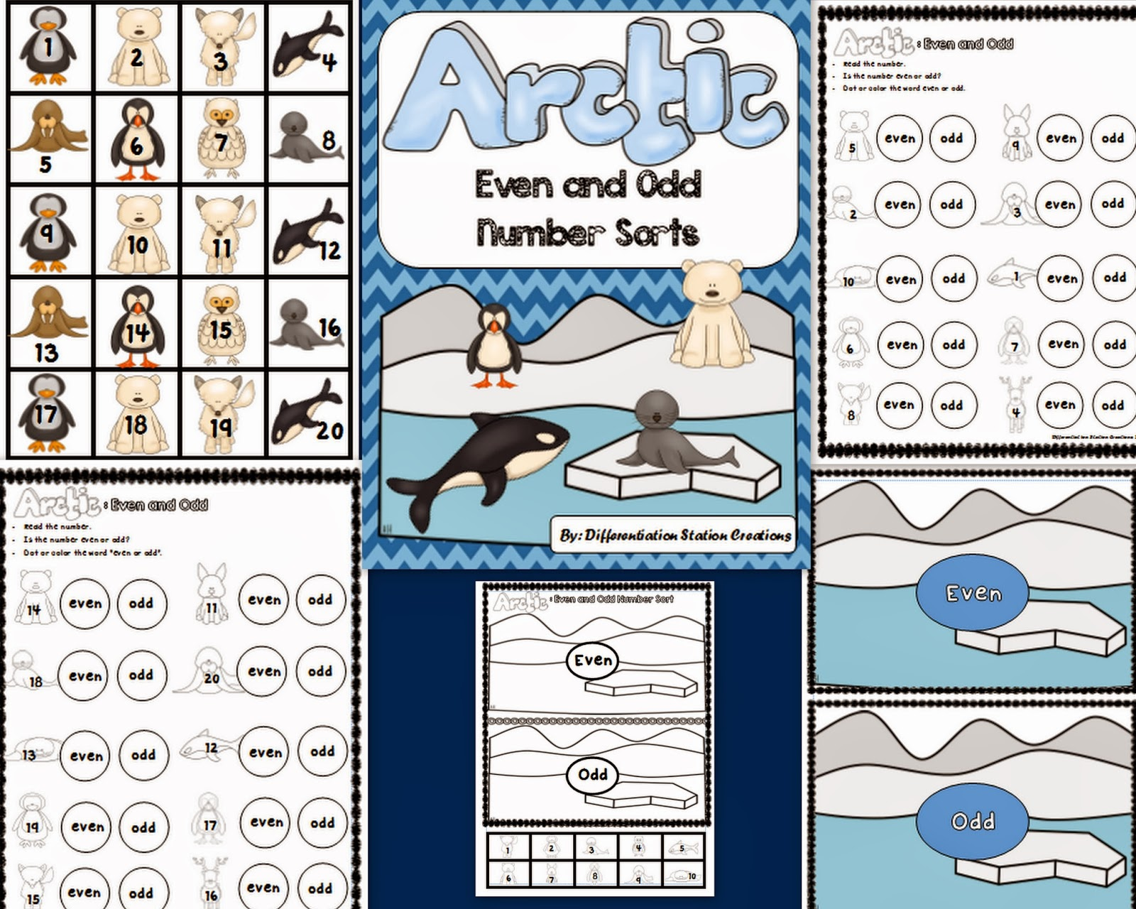 http://www.teacherspayteachers.com/Product/FREE-Arctic-Even-and-Odd-Number-Sort-Center-Printables-1096488