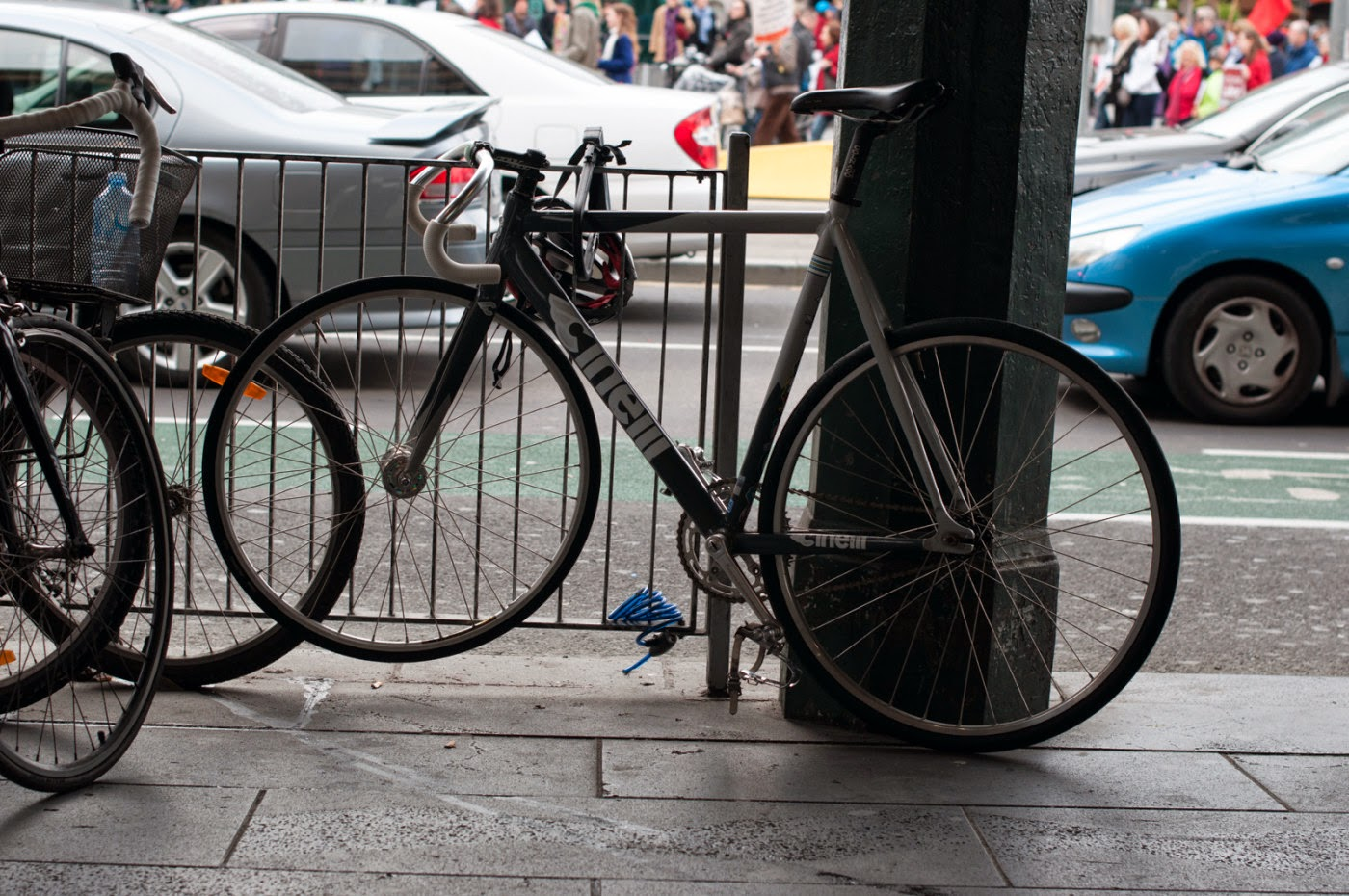 the biketorialist, tim macauley, cinelli, mash, fixed speed, bicycle, bike, frame, melbourne, australia, street,