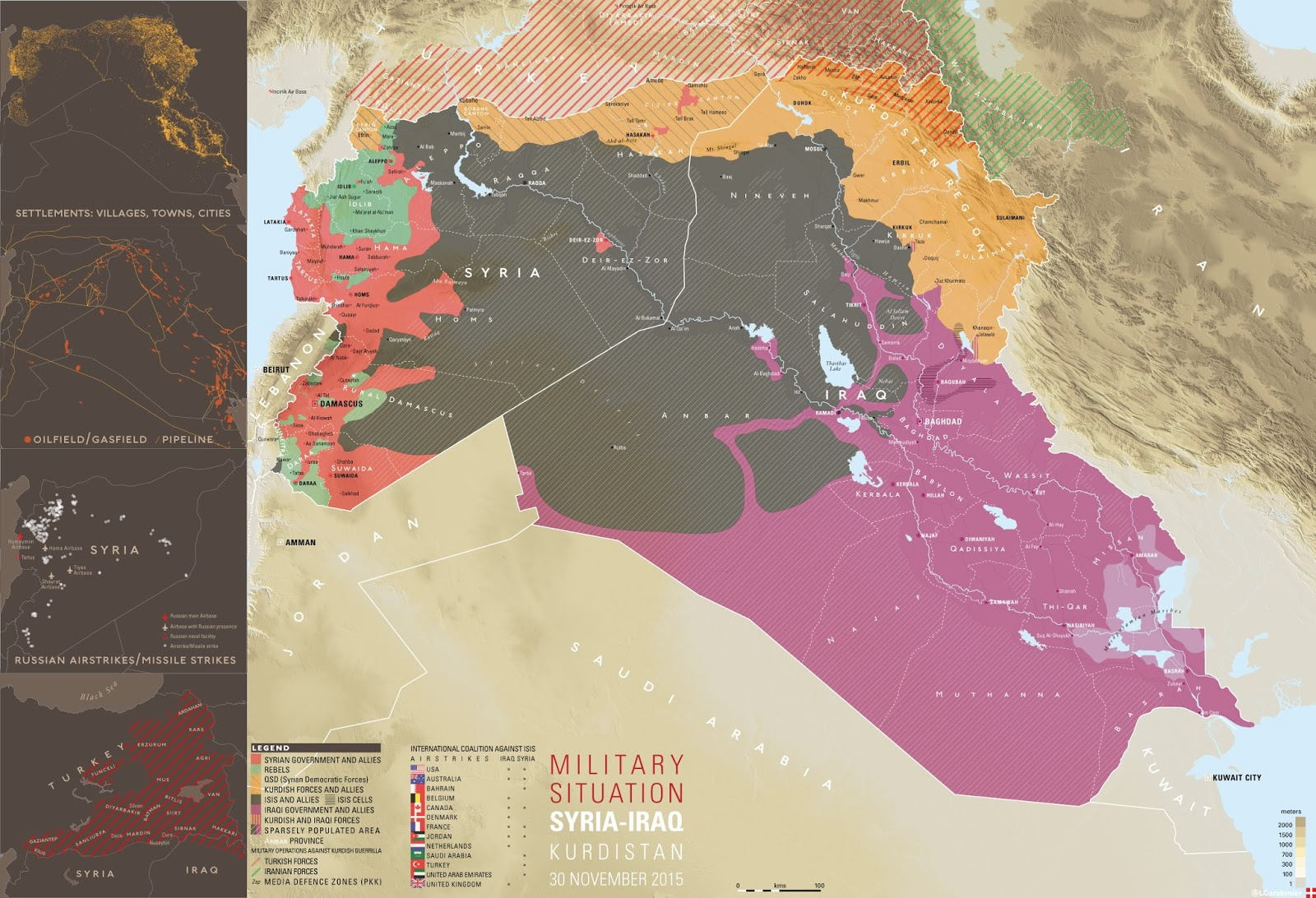 Military situation in Syria, Iraq & Kurdistan