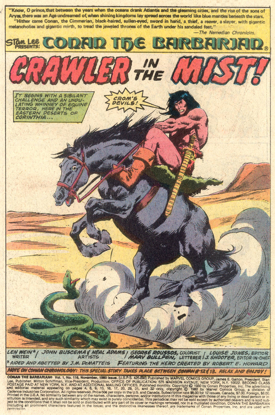 Conan the Barbarian (1970) Issue #116 #128 - English 2