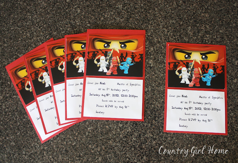 COUNTRY GIRL HOME NINJAGO Birthday party – Ninjago Party Invitations