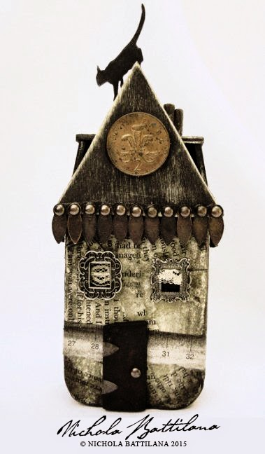 Haunted House Altered Altoid Tin - Nichola Battilana