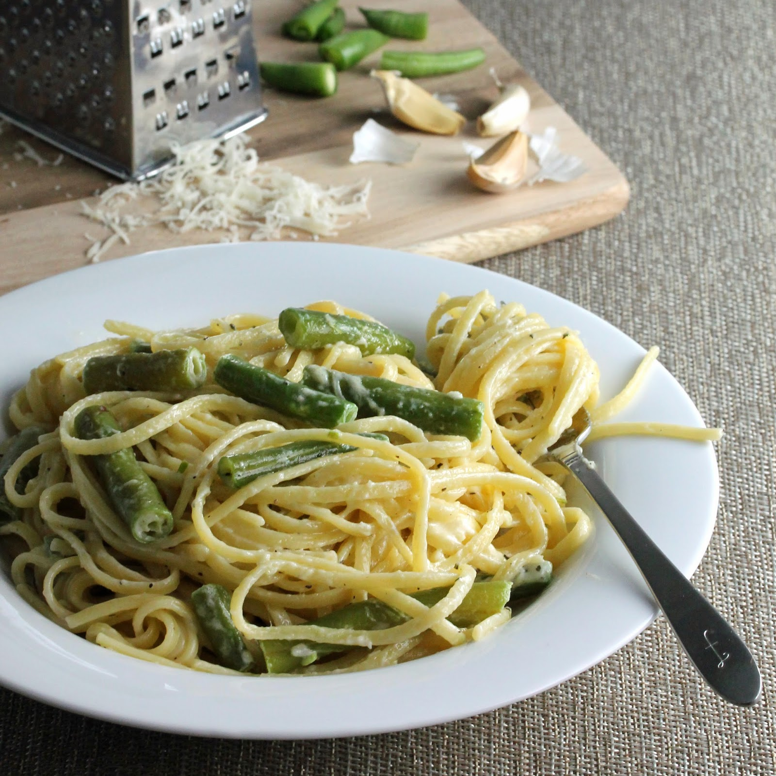 garlic pasta green beans
