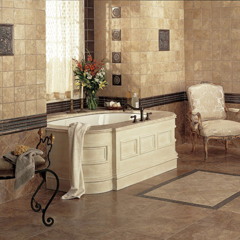 Bathroom tiles home design for Bathroom tile flooring designs
