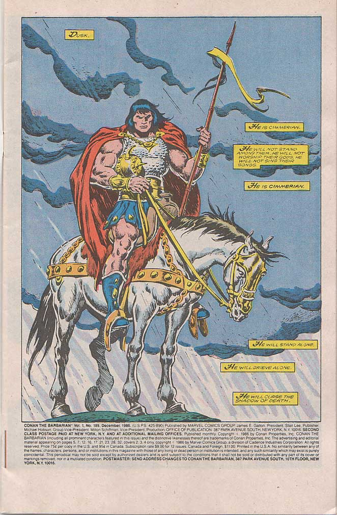 Conan the Barbarian (1970) Issue #189 #201 - English 2