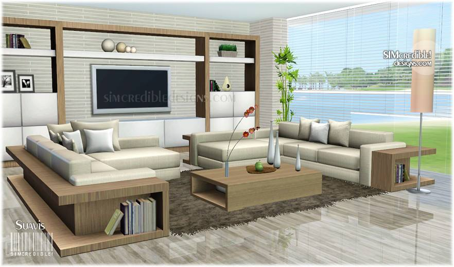 My sims 3 blog suavis living set by simcredible designs for Sims 3 living room sets