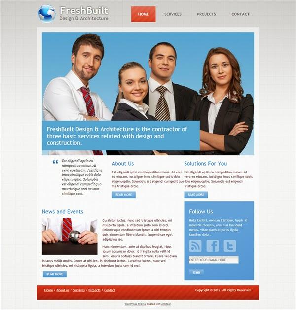 Fresh Built - Free Wordpress Theme