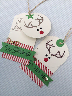 Raindeer Christmas tags