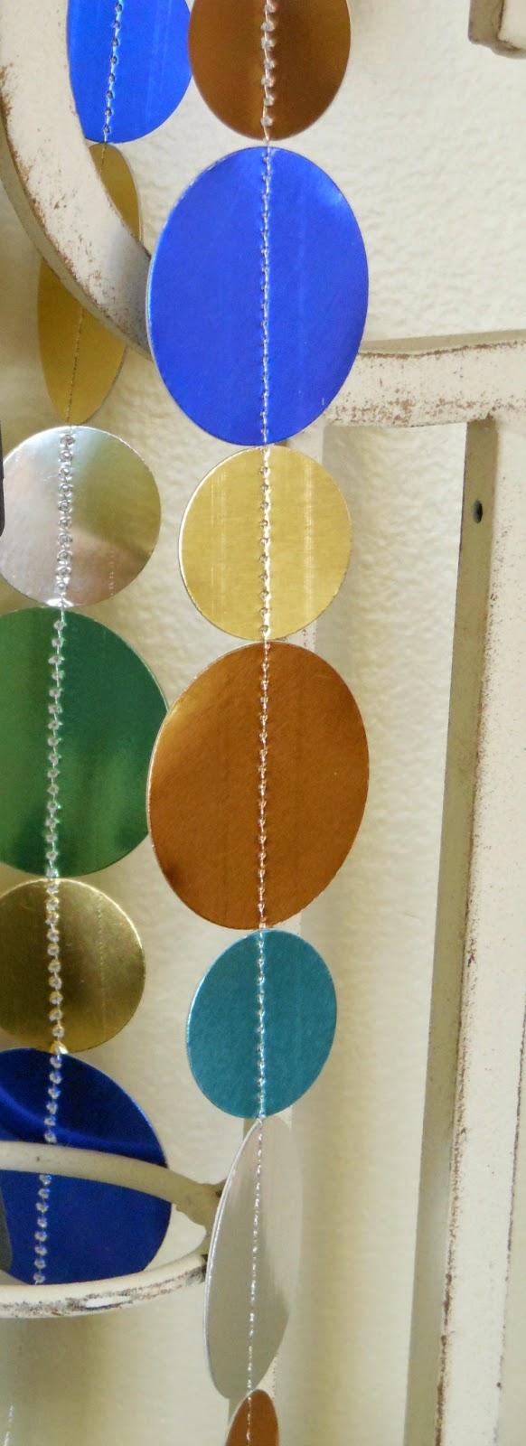 metallic circle garland