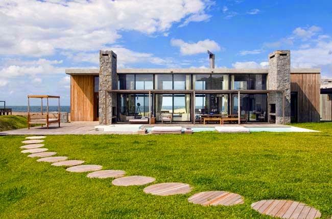 Casas minimalistas y modernas casa moderna en uruguay for Casa minimalista uy