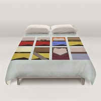 USS Enterprise 1701 D crew - Star Trek: The Next Generation Duvet Covers