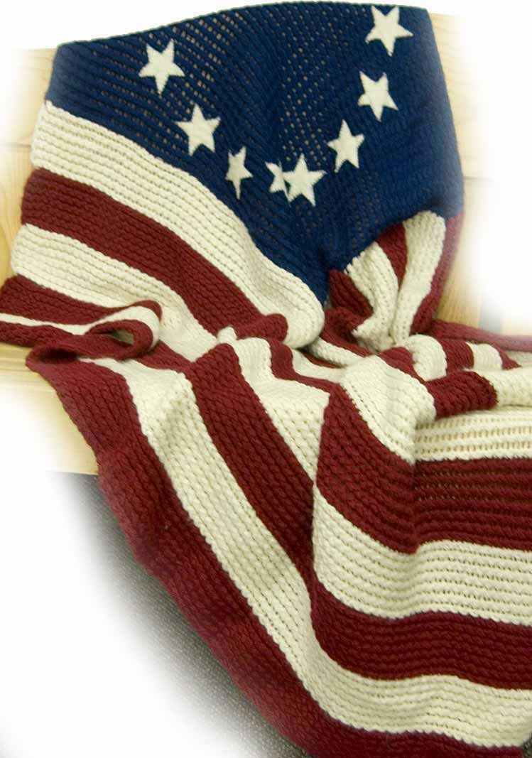 Knifty Knitter Flag Blanket