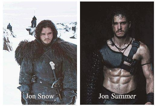 #GameOfThrones Jon Snow VS Jon Summer meme
