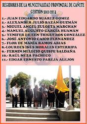 Cuerpo de Regidores de la MPC