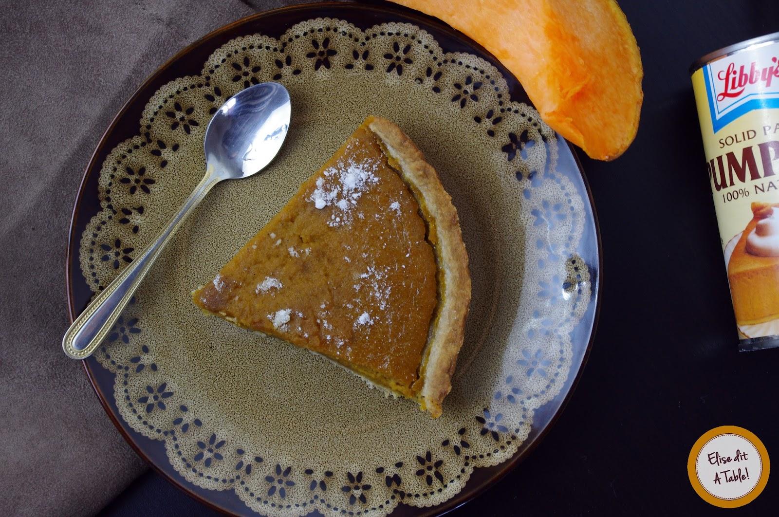 recette Pumpkin pie