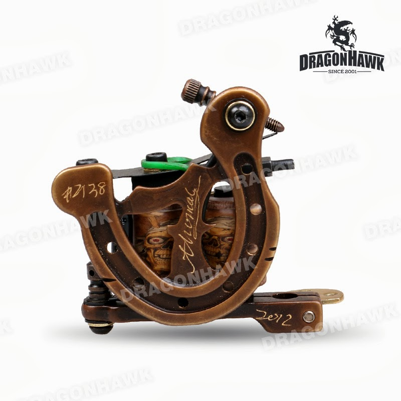 Tattoo supplies handmade copper carved high quality for Difference between shader and liner tattoo machine