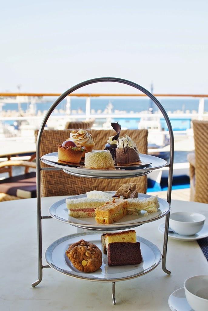 Afternoon tea Silversea luxury cruise