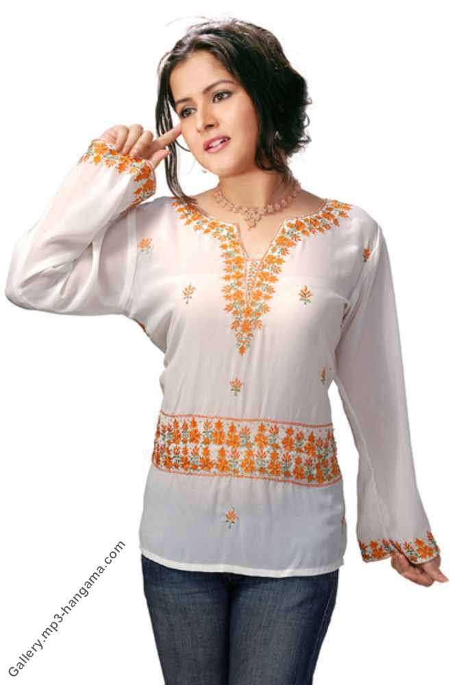 Cool Cotton Kurtis Designs | Fancy Kurtis With Jeans | Mp3 Fashion Magzine Gallery