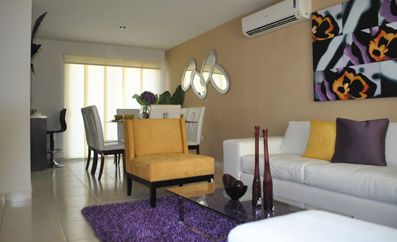 Casas en venta y departamentos casa muestra modelo for Modelo sala comedor
