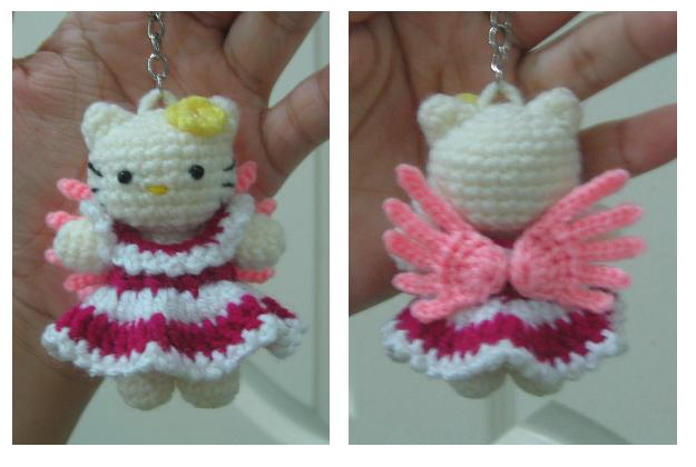 Welcome To Tdccrafts Hello Kitty Angel Wt Dark Pink Dress