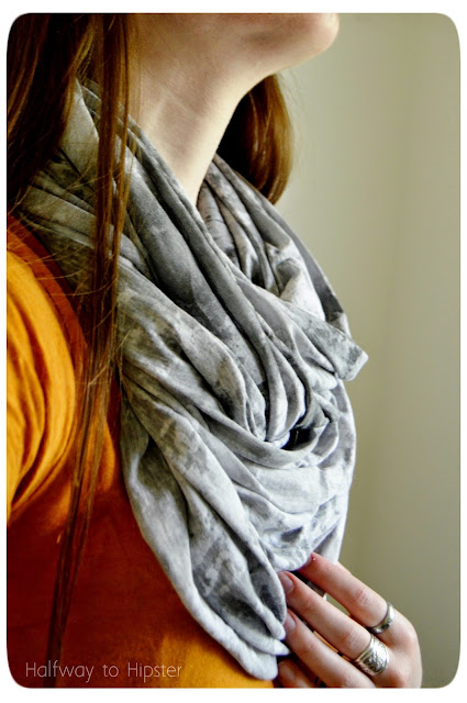 Easy DIY Jersey Scarf