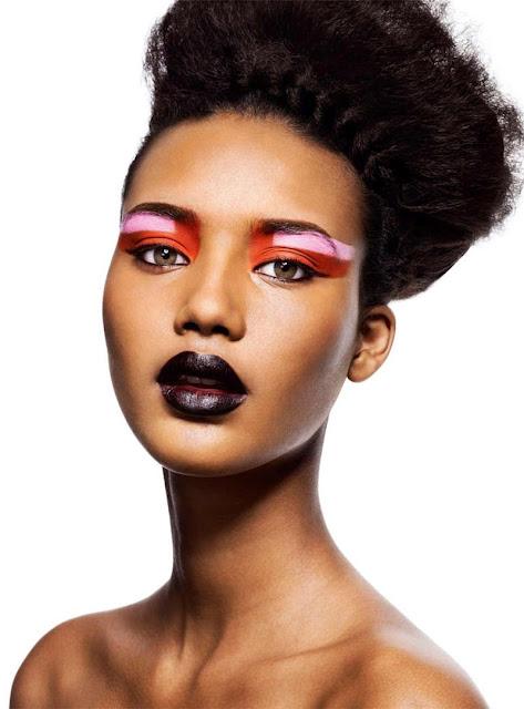 color blocking make up