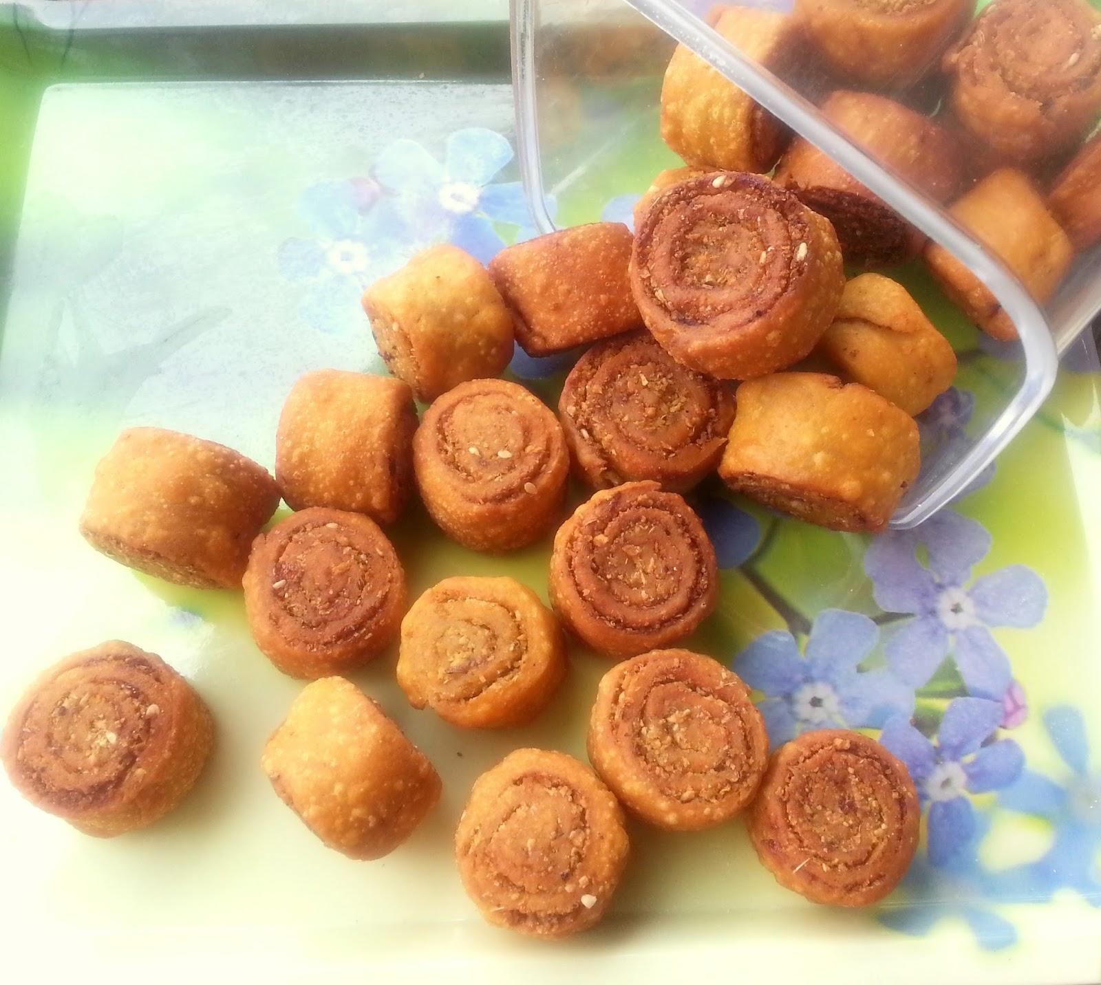 Annapurna bhakarwadi vegetarian snack recipe for Annapurna cuisine
