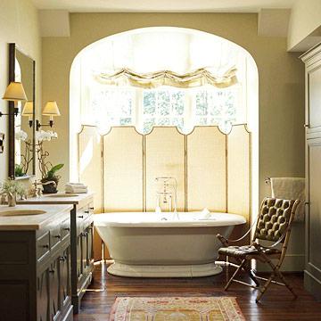 Bathroom Window Screens   adorned abode Privacy Treatments for Bay Windows. Bathroom Screen Window