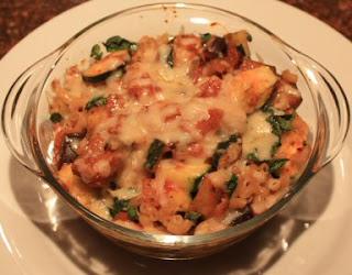 recept; recepten; hoofdgerecht; hoofdgerechten; ovenschotel; pasta; macaroni; courgette; aubergine; vegetarisch;