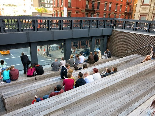 The viewing platform on the High Line, New York