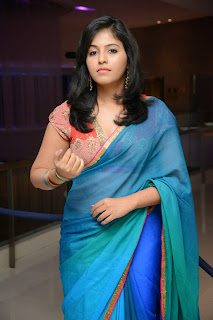 Actress Anjali Latest  Pictures in Saree at Masala Audio Launch  0074