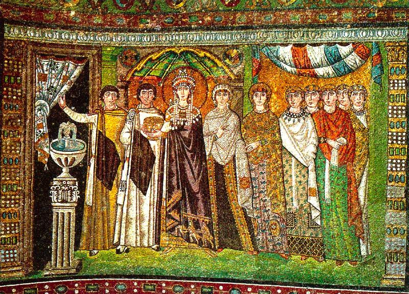 Historia de la moda y los tejidos de bizancio a dolce for Definicion de pintura mural