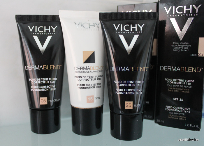 one little vice beauty blog: vichy full coverage foundation
