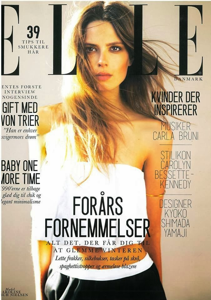Caroline Brasch Nielsen Photos from Elle Denmark Magazine Cover February 2014 HQ Scans