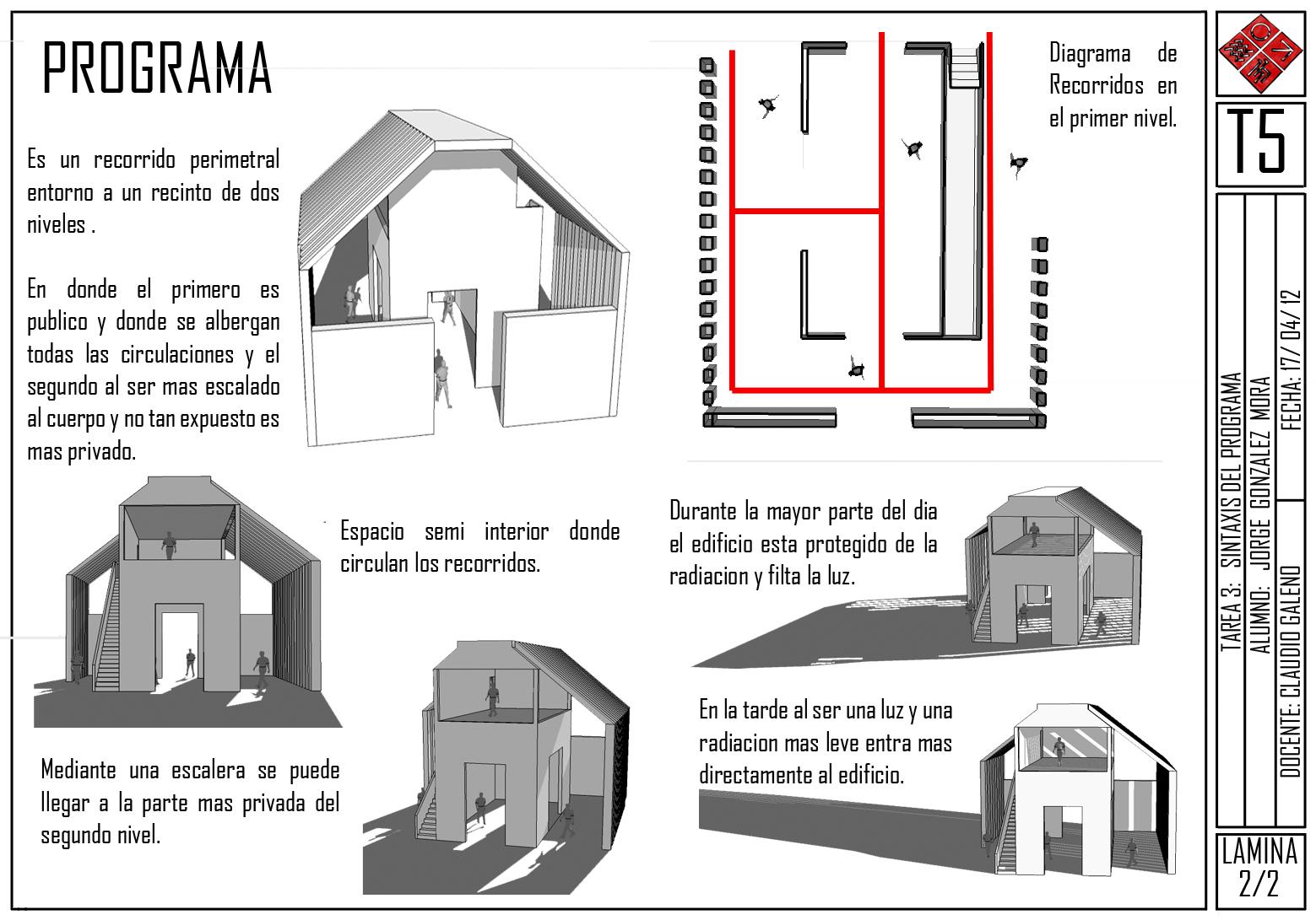 Taller de arquitectura 5 lenguaje 1er semestre de 2012 for Programa arquitectonico
