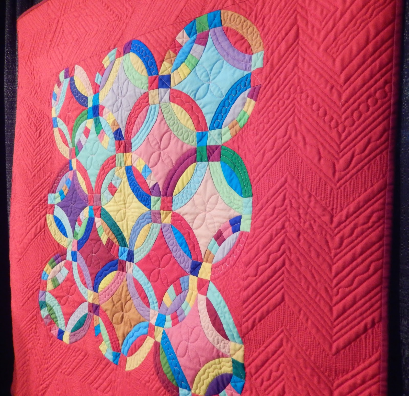 Quilting Mod : Quilt Festival: Double Wedding Ring Quilts: Here Come ...