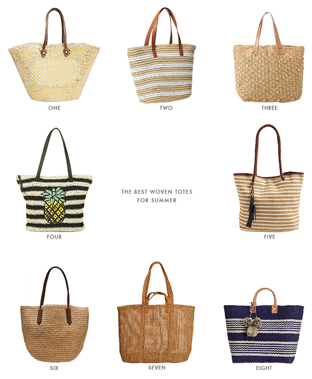 the best woven totes for summer