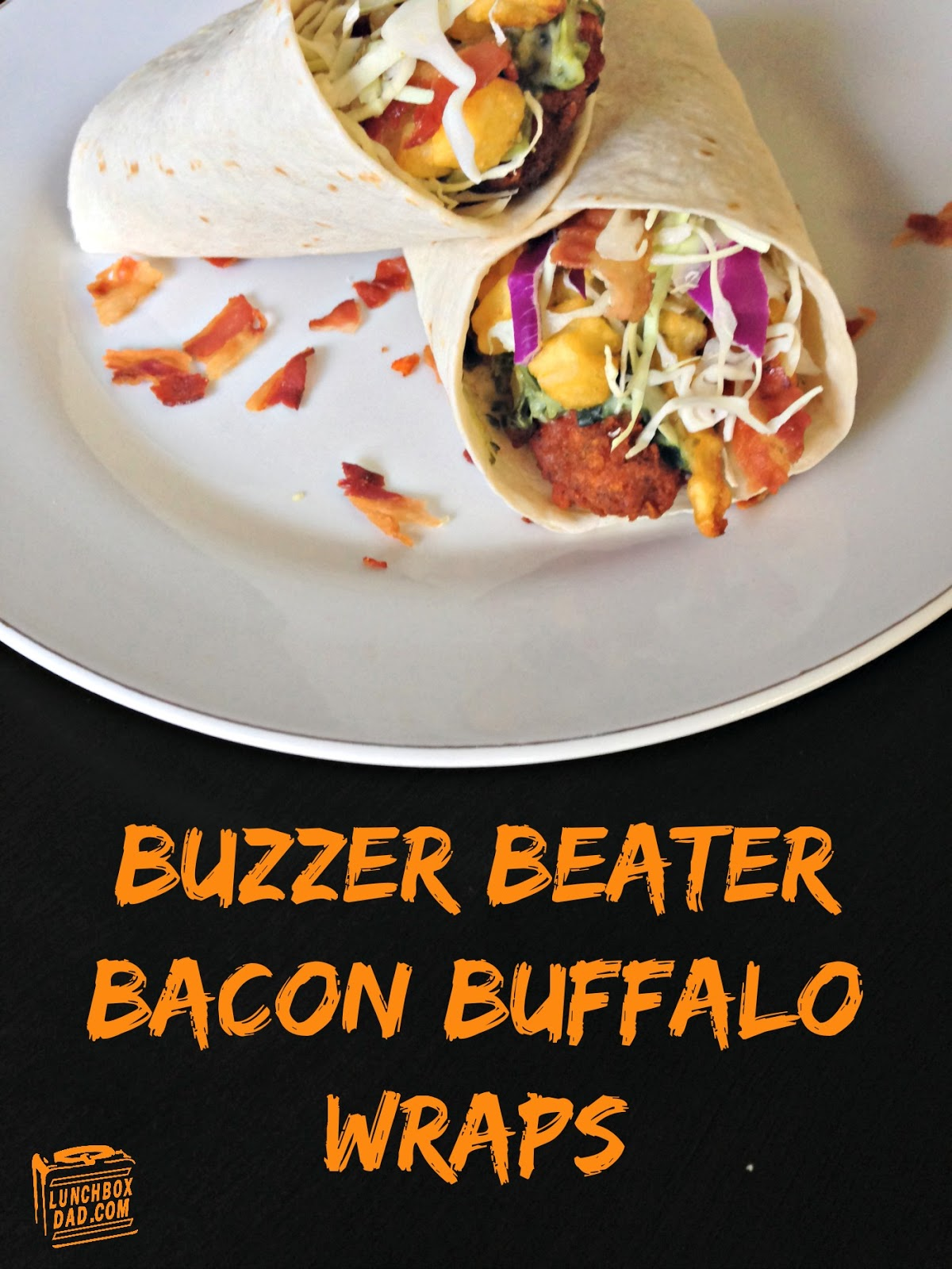 Buzzer Beater Bacon Buffalo Wraps #FrozenChefMadness