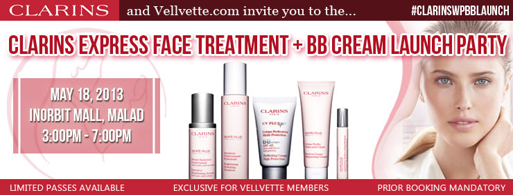 Invite to the Clarins Launch Party