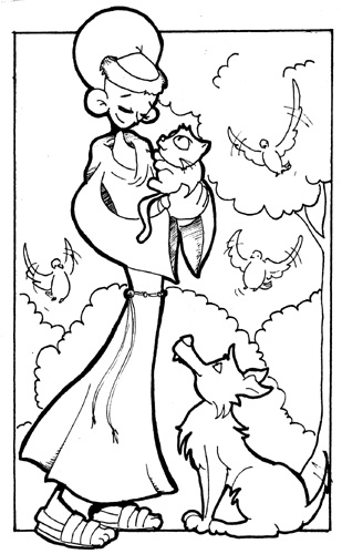 St. Francis De Assisi Coloring Pages