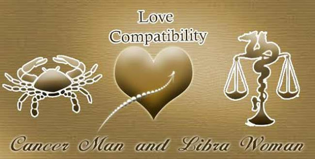 libra female and cancer male dating