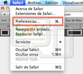 Menú Safari - Preferencias