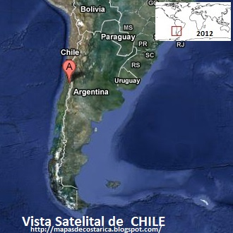 CHILE, Vista Satelital de Google Maps